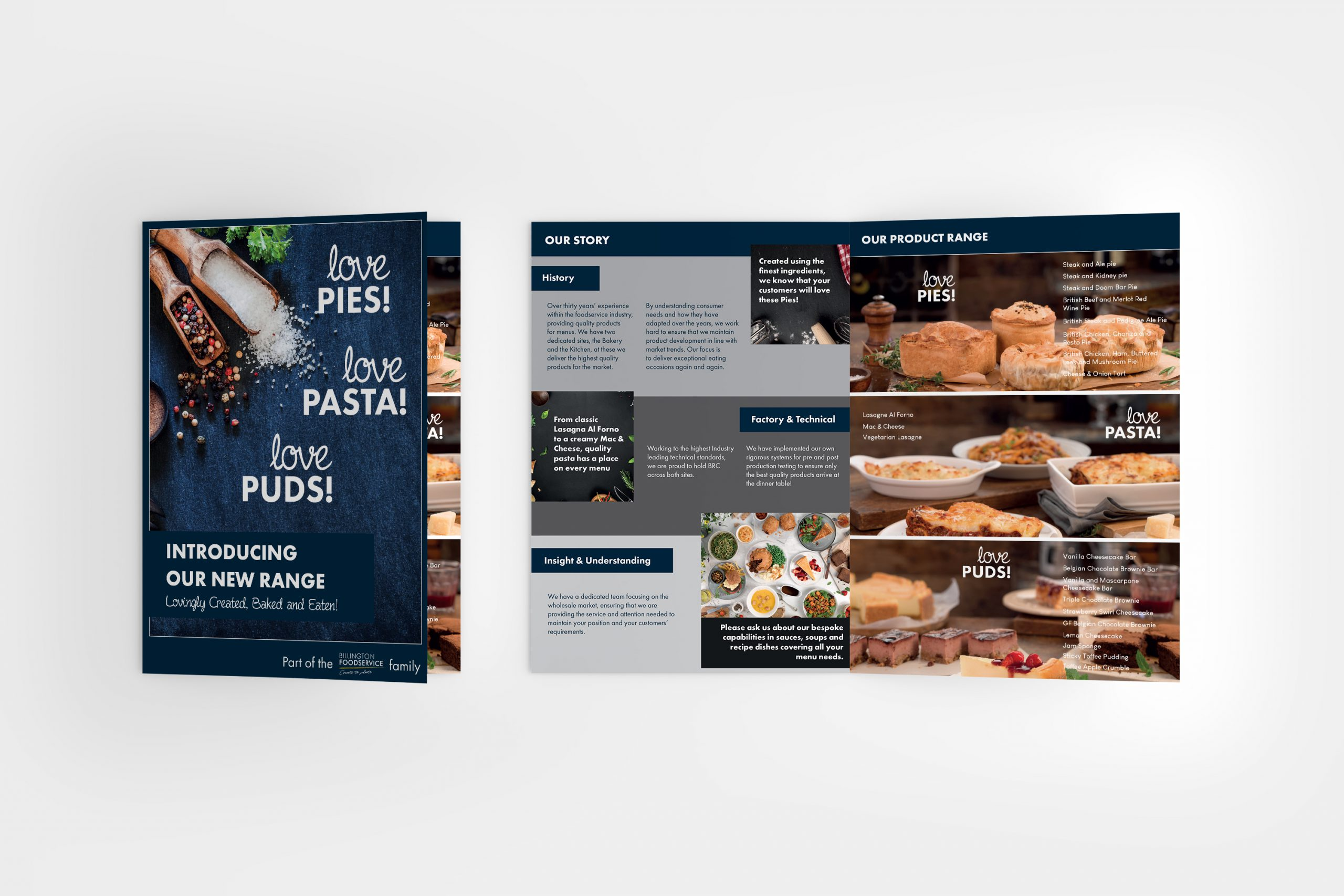 Graphic design of food industry wholesaler and manufacturer