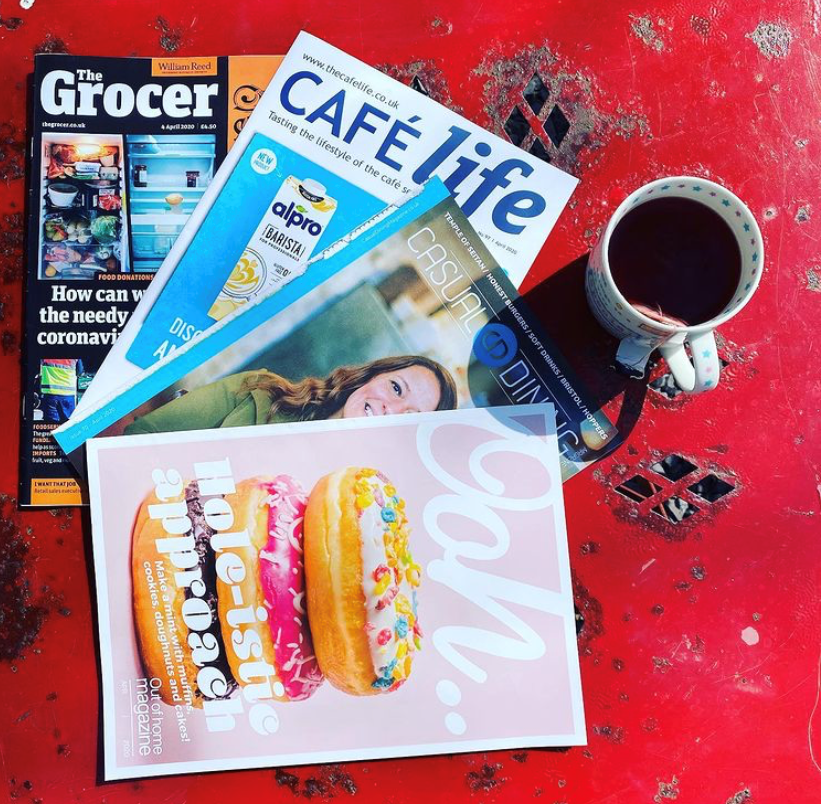 Food industry trade press magazines, The Grocer, The Caterer, H2O publishing, Café Life Magazine, OOH magazine