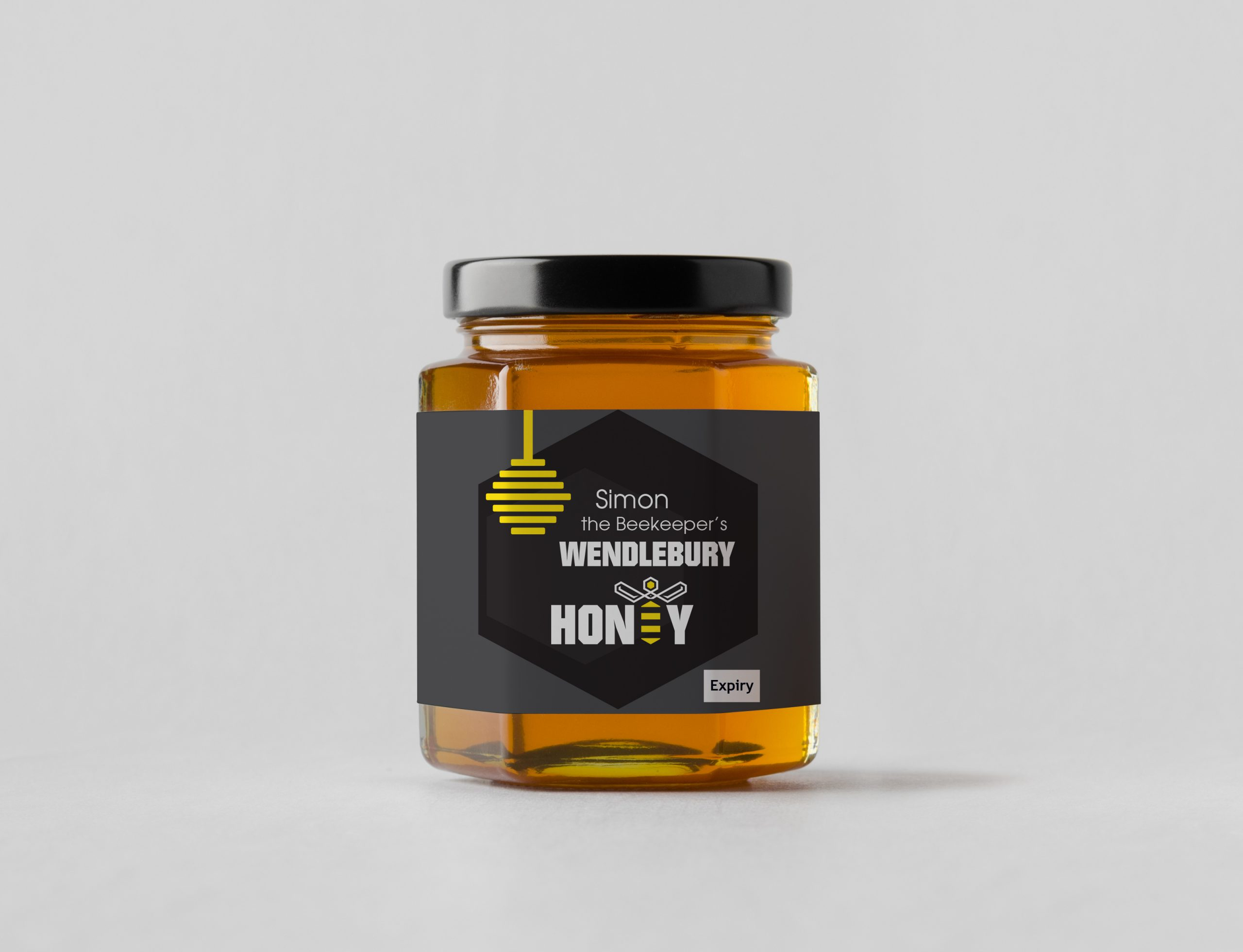 Food packaging design for jars and boxes for honey company