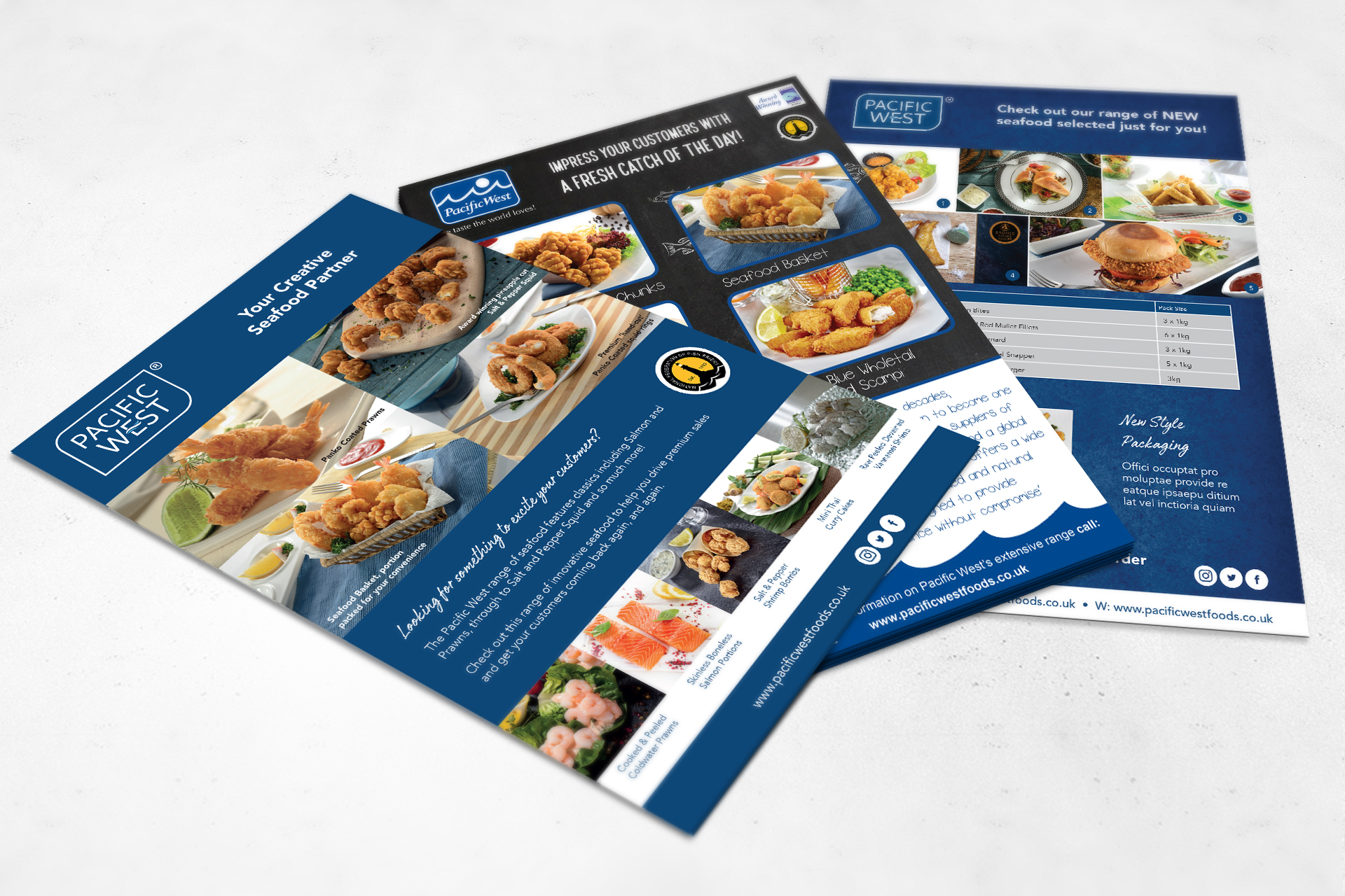 Flyer design and print for food industry
