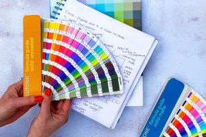 Pantone book for logo and brand design for food industry