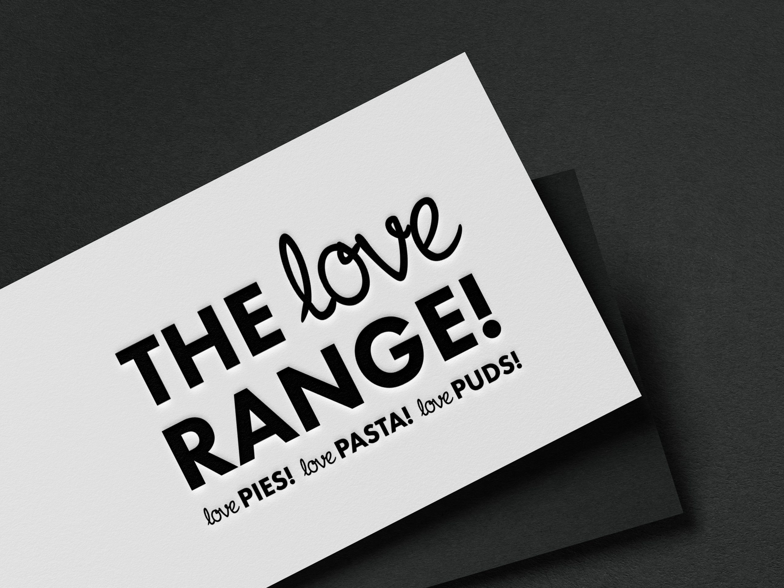 Logo and brand design for food manufacturer shown on a business card