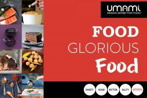 Umami food glorious food, website design and graphic design