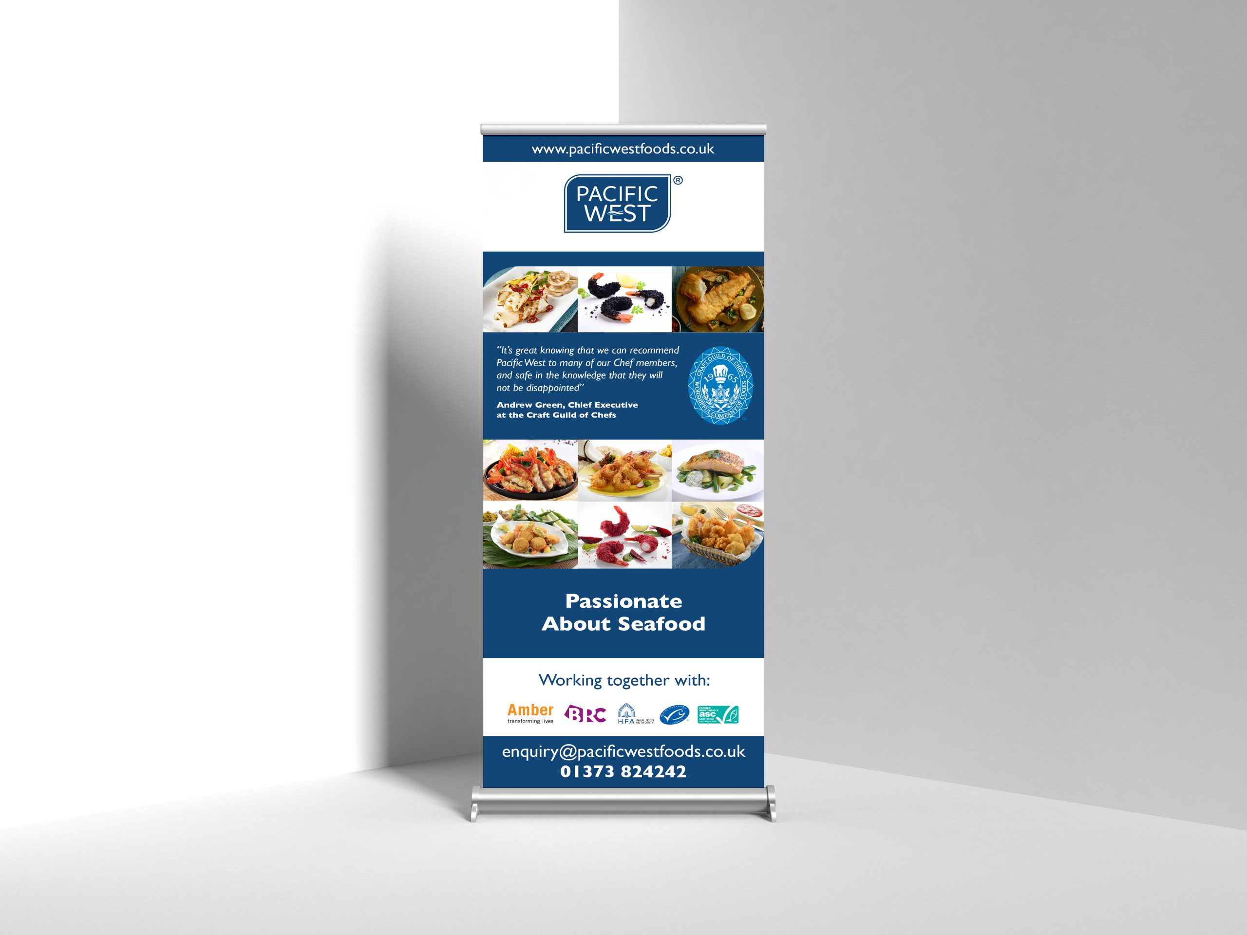 Exhibition and roller banner design for food manufacturer and distributor