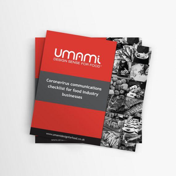 Umami - Coronavirus Communications Checklist for Food Industry Businesses Mockup - Square
